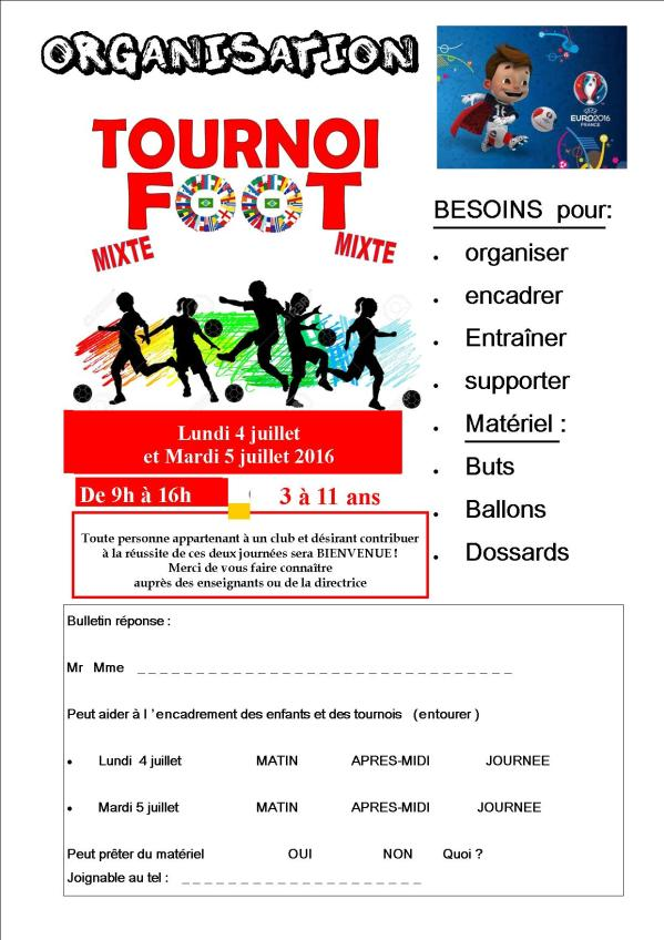 Affiche tournoi de foot